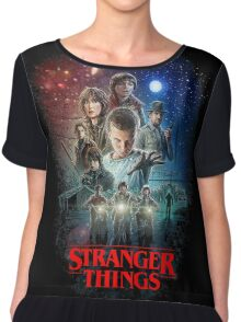 Stranger Things Black Chiffon Top