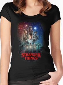Stranger Things Black Women's Fitted Scoop T-Shirt