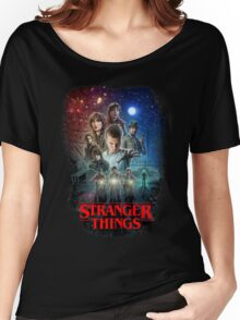 Stranger Things Black Women's Relaxed Fit T-Shirt
