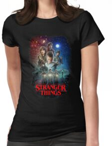 Stranger Things Black Womens Fitted T-Shirt