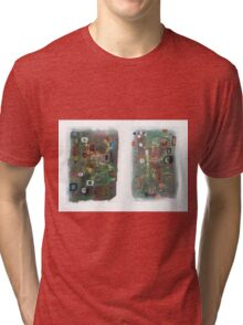 Hospital Napkin Diptych. Tri-blend T-Shirt
