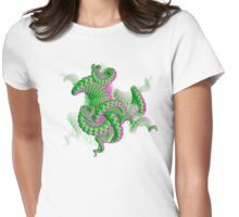 Spiral fractal on white. Womens Fitted T-Shirt