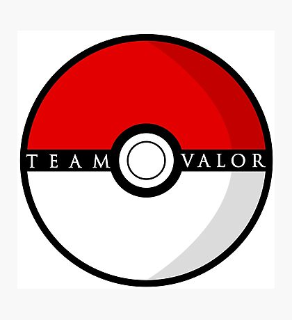 Team Valor Poké Ball | Pokémon Go Photographic Print