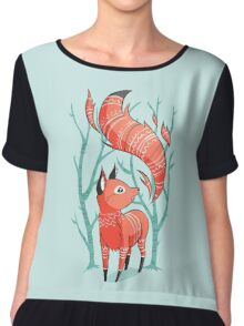Winter Fox Chiffon Top