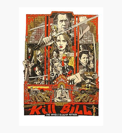 Kill Bill Bloody Bride Photographic Print