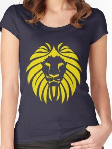 Yellow Lion Tribal Silhouette Women's Fitted Scoop T-Shirt