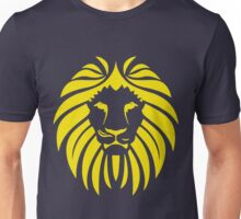 Yellow Lion Tribal Silhouette Unisex T-Shirt