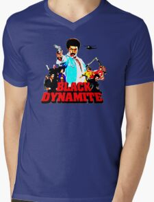 Black Dynamite Mens V-Neck T-Shirt