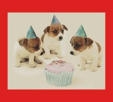 Vintage Puppy Birthday Card One Piece - Short Sleeve