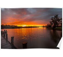 Sunrise on the Collie River Poster