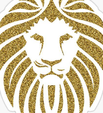 Gold Glitter Lion Tribal Silhouette Sticker