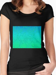 Sea Green Crackle Women's Fitted Scoop T-Shirt