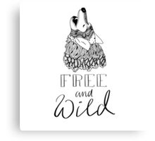 free and wild Canvas Print