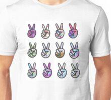 12 Peace Signs Unisex T-Shirt