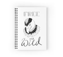 free and wild2 Spiral Notebook