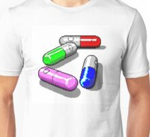 Four Tablet Capsules Unisex T-Shirt