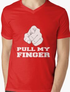 PULL MY FINGER Mens V-Neck T-Shirt