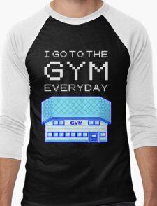 I go to the gym everyday - pokemon Men's Baseball ¾ T-Shirt