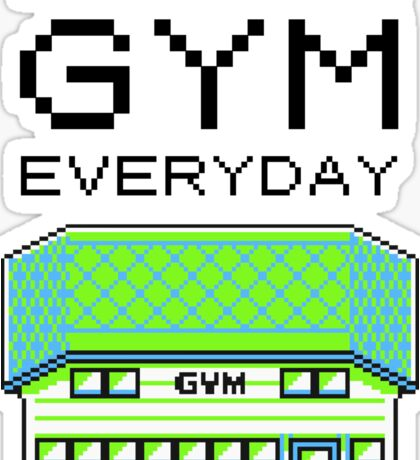 I go to the gym everyday - pokemon Sticker