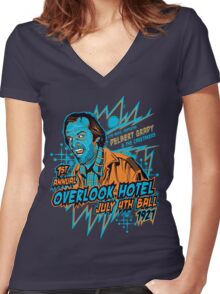 1st Annual Overlook Hotel July 4th Ball (alternate colors) Women's Fitted V-Neck T-Shirt