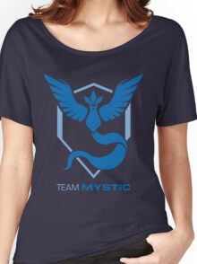 Team Mystic Logo with Text Women's Relaxed Fit T-Shirt