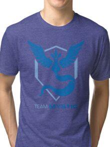Team Mystic Logo with Text Tri-blend T-Shirt