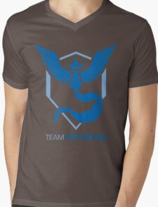 Team Mystic Logo with Text Mens V-Neck T-Shirt