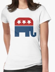 Republican Elephant  Womens Fitted T-Shirt
