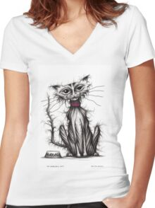 My horrible cat Women's Fitted V-Neck T-Shirt