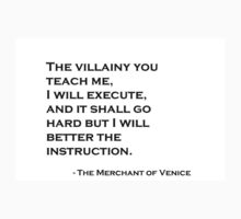 Shylock's Speech Kids Tee