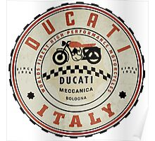 Ducati vintage Motorcycles Italy Poster