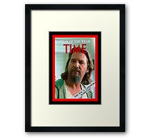 Time's Man of the year - The Big Lebowski Framed Print