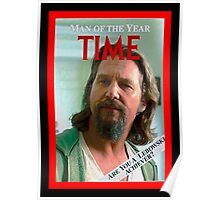 Time's Man of the year - The Big Lebowski Poster