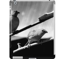 Black&White birds iPad Case/Skin