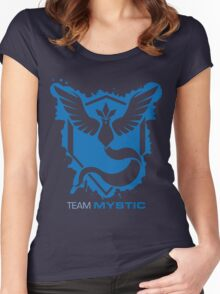 Team Mystic Splash with Text Women's Fitted Scoop T-Shirt