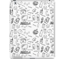 Network, mobile, and paint icon set on white background. vector illustration. iPad Case/Skin