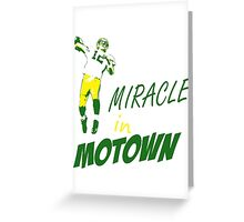 Miracle in Motown Greeting Card