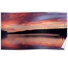 Lake Ouachita Sun Poster