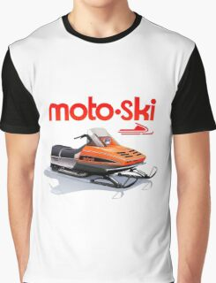 Moto Ski vintage Snowmobiles Graphic T-Shirt