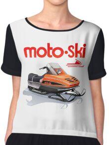 Moto Ski vintage Snowmobiles Chiffon Top
