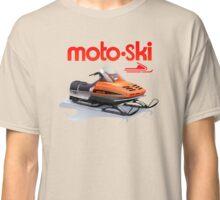 Moto Ski vintage Snowmobiles Classic T-Shirt