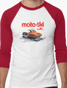 Moto Ski vintage Snowmobiles Men's Baseball ¾ T-Shirt
