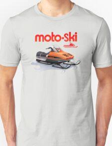 Moto Ski vintage Snowmobiles Unisex T-Shirt