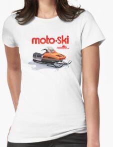 Moto Ski vintage Snowmobiles Womens Fitted T-Shirt