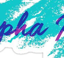 alpha phi cup design Sticker