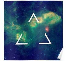 Hipster Triangle In Space Poster