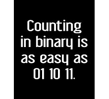 Counting In Binary Photographic Print