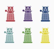 Rainbow Daleks by zzaannsebar