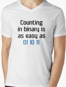 Counting In Binary Mens V-Neck T-Shirt