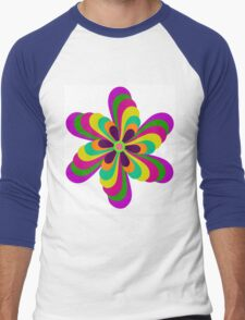 Trippy Twirl Men's Baseball ¾ T-Shirt